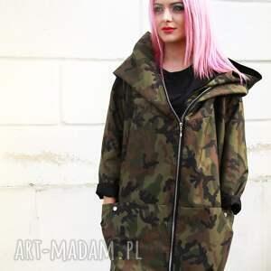 Moro płaszcz oversize ogromny kaptur na jesień rozmiar na zimę