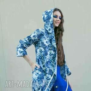 niebieskie kurtki narzutka karina w chabrowe