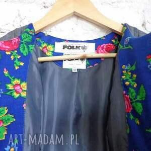 folk kurtki niebieskie piękna kurtka design aneta