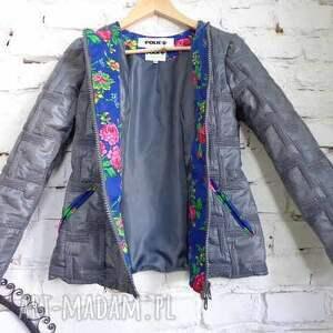 różowe kurtki piękna kurtka folk design aneta