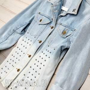 handmade kurtki ćwieki rock kurtka dżinsowa z ćwiekami