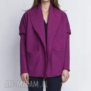 kurtki płaszcz żakiet, za108 amarant