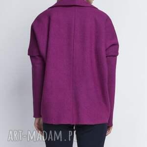 płaszcz kurtki żakiet, za108 amarant