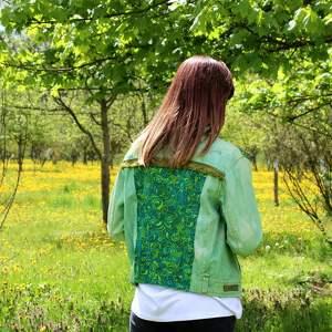 kurtki katana zielona kurtka z chwostami