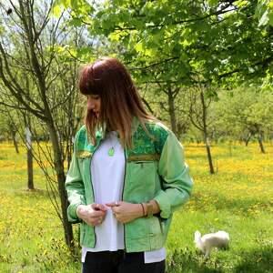 katana kurtki zielona kurtka z chwostami