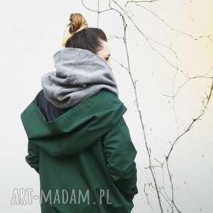 oryginalne kurtka zimowa zielony szmaragdowy płaszcz