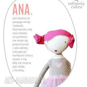 lalka lalki różowe ana, która lubi