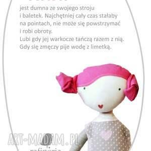 lalki baletnica ana, która lubi tańczyć. lalka z
