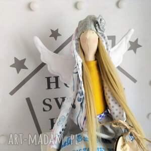hand made lalki anioł lalka na chrzest pamiątka