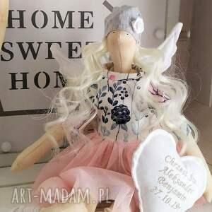 ręcznie zrobione lalki anioł lalka na chrzest święty
