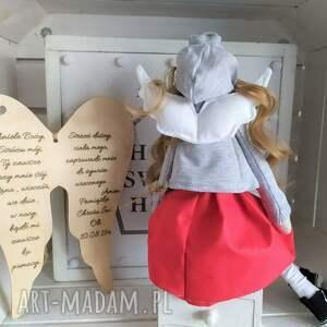 FabryqaPrzytulanek lalki: Anioł lalka pamiątka Chrztu Świętego Pierwszej Komunii