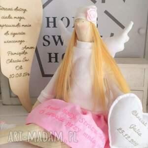 tilda anioł laka lalki lalka na chrzest