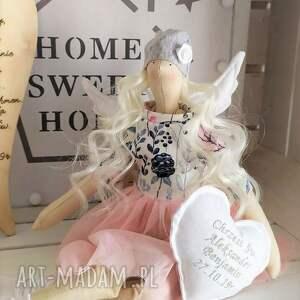 ręcznie zrobione lalki tilda anioł lalka na chrzest święty