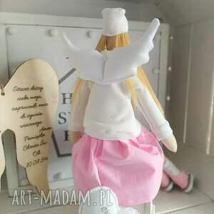 FabryqaPrzytulanek Anioł lalka na Chrzest Święty - pamiątka chrztu prezent
