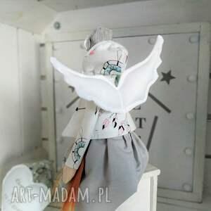 hand made lalki anioł pamiątka chrztu stróż