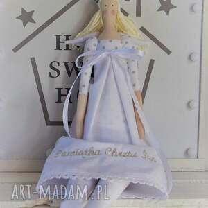 ręczne wykonanie lalki anioł pamiątka chrztu