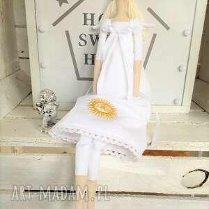 lalki: Anioł pamiątka Pierwszej Komunii Świętej - tilda