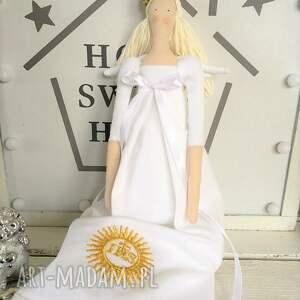 handmade lalki tilda anioł pamiątka pierwszej komunii