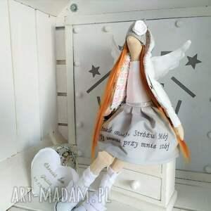 tilda lalki anioł pamiątka chrztu stróż