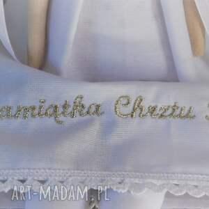 ręczne wykonanie lalki pamiątka anioł chrztu