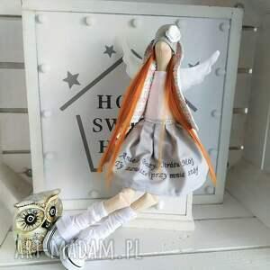 lalki tilda anioł pamiątka chrztu stróż