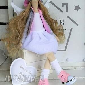handmade lalki anioł stróż pamiątka chrztu