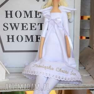handmade lalki anioł tilda pamiątka chrztu