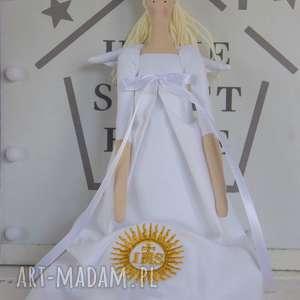 ręcznie zrobione lalki anioł tilda pamiątka pierwszej