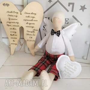 lalki tilda anioł na chrzest szkocka