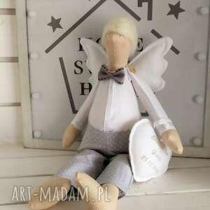 hand made lalki anioł tilda pamiątka chrztu