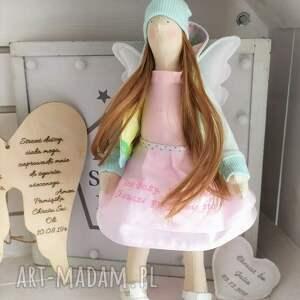 gustowne lalki anioł tilda lalka pamiątka chrztu