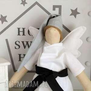 ręcznie robione lalki anioł tilda karateka