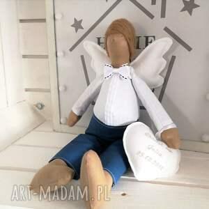 wyraziste lalki anioł tilda pamiątka chrztu