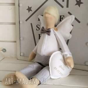 lalki tilda anioł pamiątka chrztu