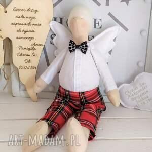 lalki anioł tilda na chrzest szkocka