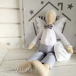 ciekawe lalki tilda anioł pamiątka chrztu