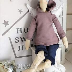 lalki: Anioł tilda lalka na Chrzest Święty - pamiątka chrztu