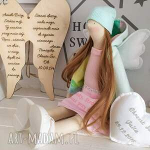 gustowne lalki tilda anioł lalka pamiątka chrztu