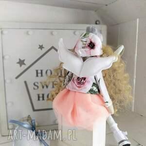 handmade lalki tilda anioł chrzest komunia