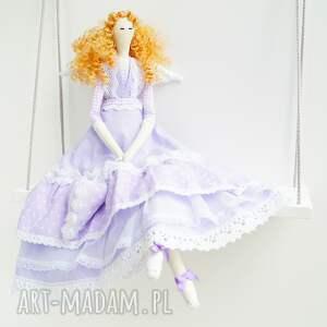 fioletowe lalki komunia anioł tilda prezent na dzień