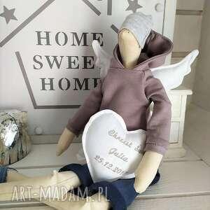 lalki: Anioł tilda lalka na Chrzest Święty - pamiątka świętego