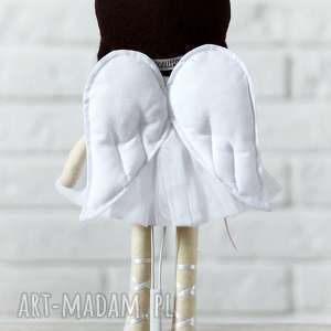 lalki przytulanka aniołek amelia w czekoladowych