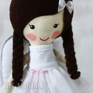brązowe lalki lalka aniołek amelia w czekoladowych