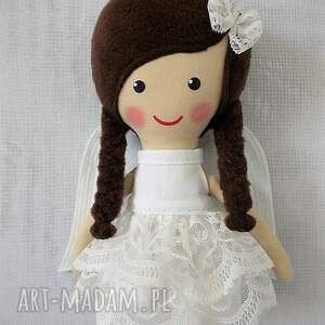 białe lalki lalka aniołek amelia