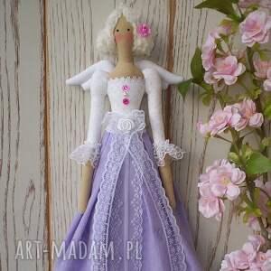 handmade lalki anioł aniołek lalka lawendowa koroneczka