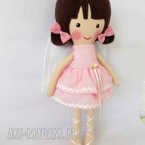 brązowe lalki zabawka aniołek laura