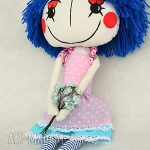 różowe lalki lala anolinka - ręcznie wykonana lalka