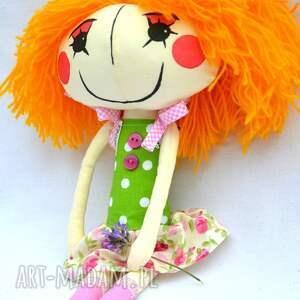 zielone lalki prezent anolinka - ręcznie wykonana lalka