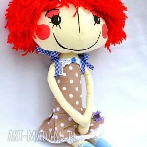 niebieskie lalki lalka anolinka - ręcznie wykonana