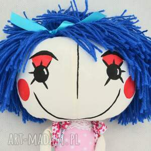 lala lalki turkusowe anolinka- ręcznie wykonana lalka